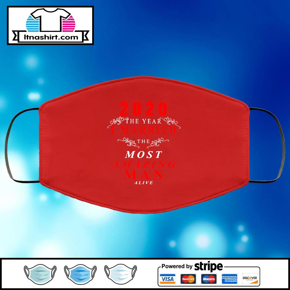 2020 the year I married the most Amazing Man alive face mask face-mask-red-color