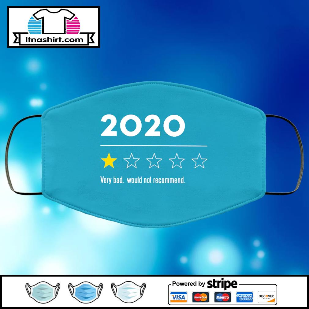 2020 Very Bad Would Not Recommend face mask face-mask-light-blue-color
