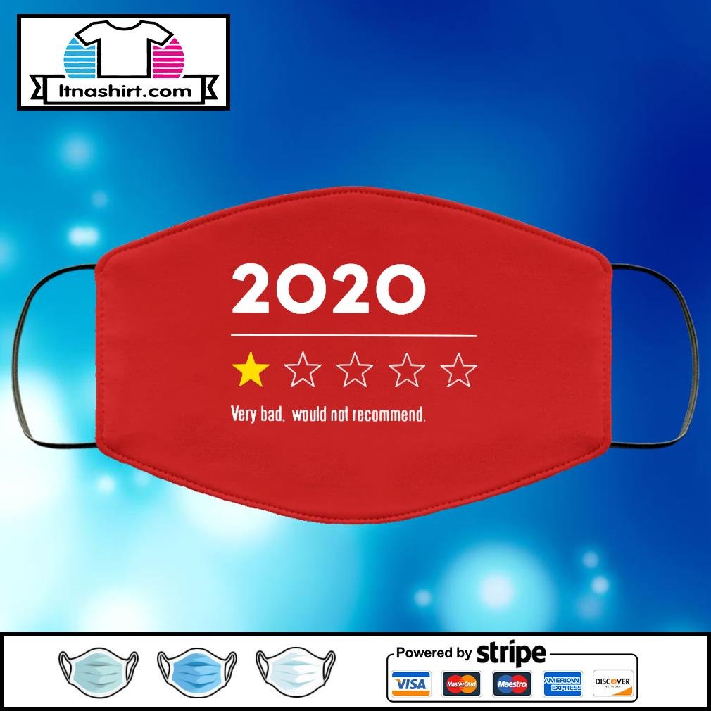 2020 Very Bad Would Not Recommend face mask face-mask-red-color