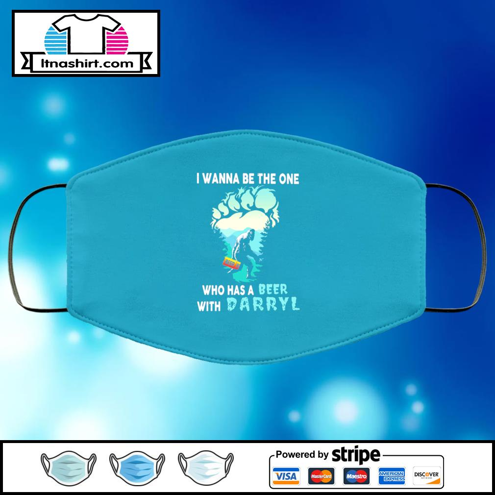 Bigfoot I wanna be the one who has a beer with Darryl face mask face-mask-light-blue-color