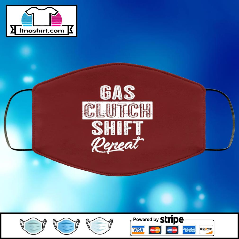 Gas Clutch Shift Repeat face mask face-mask-chocolate-color