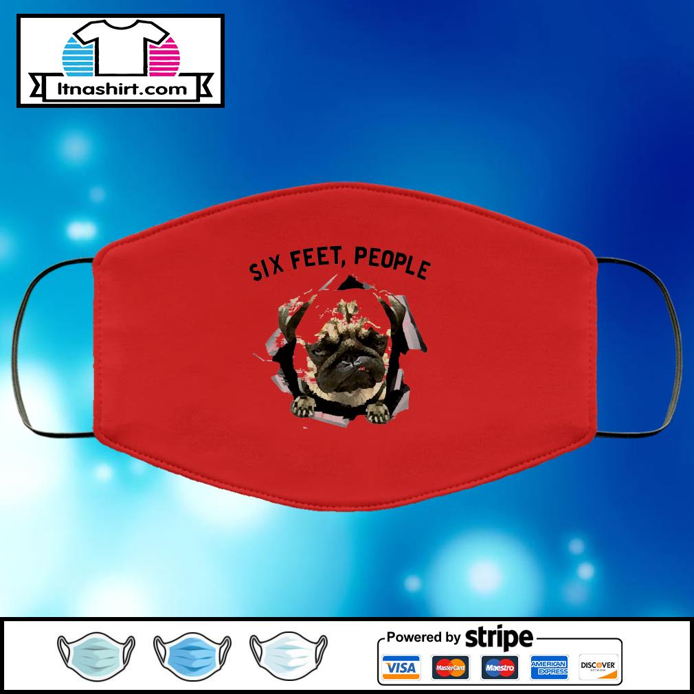 NEW Bulldog six feet people face mask face-mask-red-color