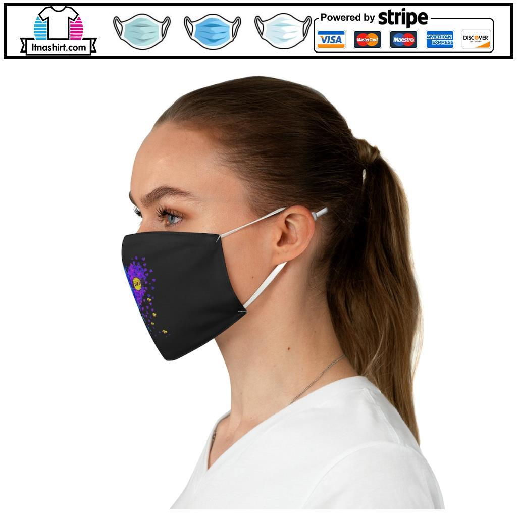 Los Angeles Dodgers And Los Angeles Lakers Tiny Hearts Shape face mask c