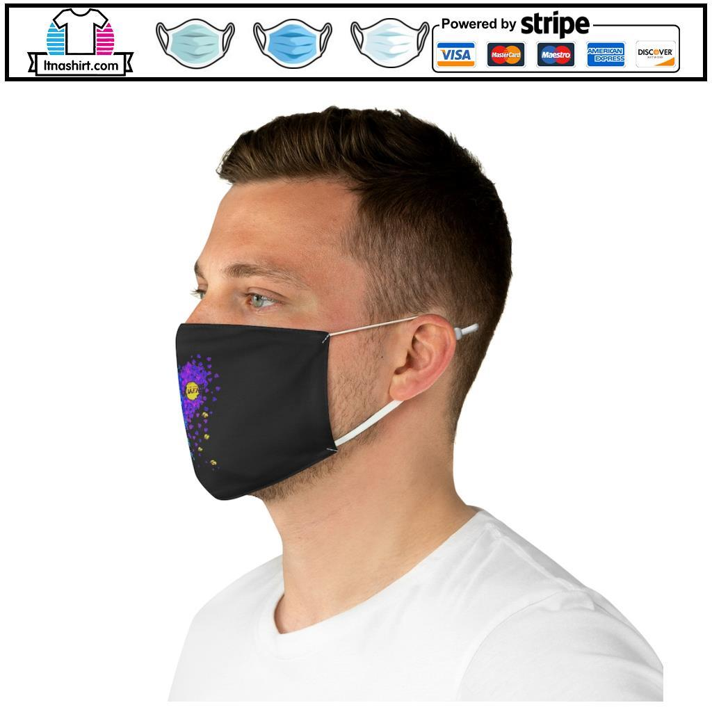 Los Angeles Dodgers And Los Angeles Lakers Tiny Hearts Shape face mask e