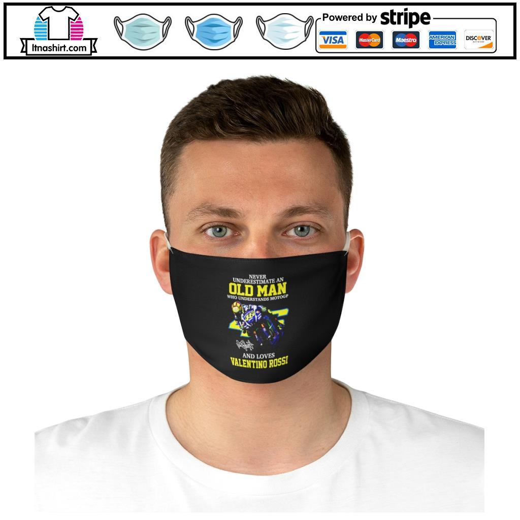Official Never underestimate a woman who understands Motogp and love Valentino Rossi face mask d